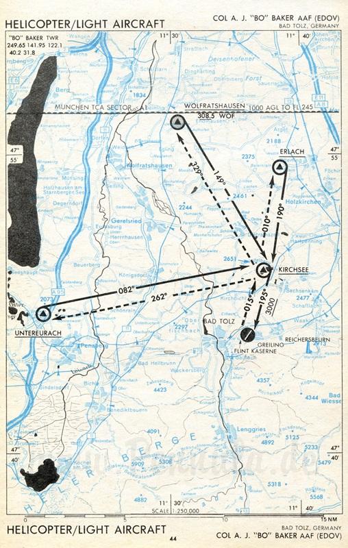 Flugplatz Bad Tölz (EDOV) | Luftfahrtkarte mit ...