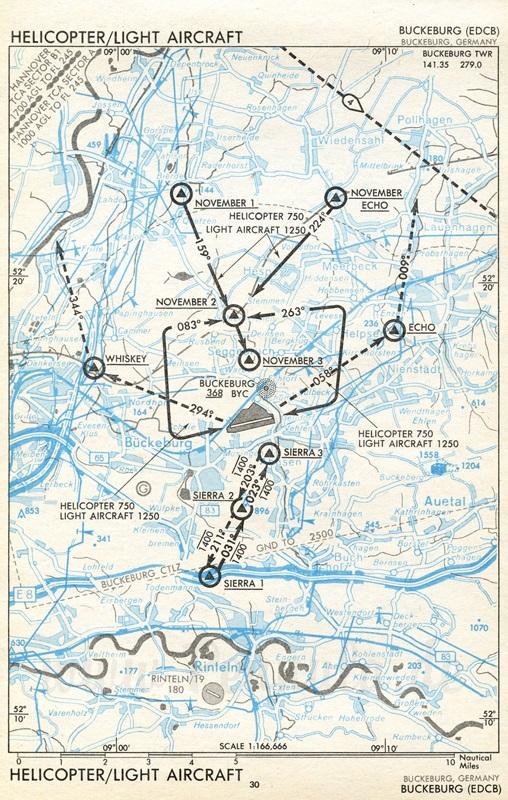 Flugplatz Bückeburg (EDCB) | Luftfahrtkarte mit ...