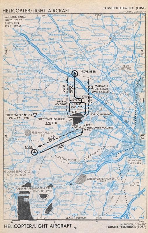 Flugplatz Fürstenfeldbruck (EDSF) | Luftfahrtkarte mit ...