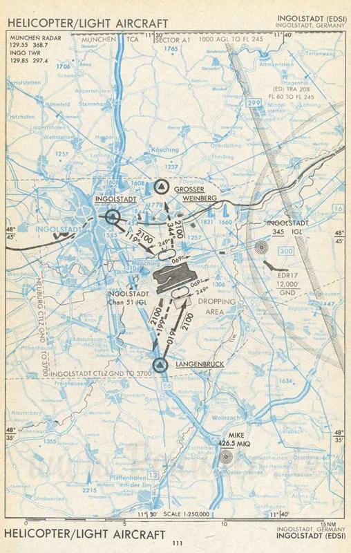 Flugplatz Ingolstadt (EDSI) | Luftfahrtkarte mit ...