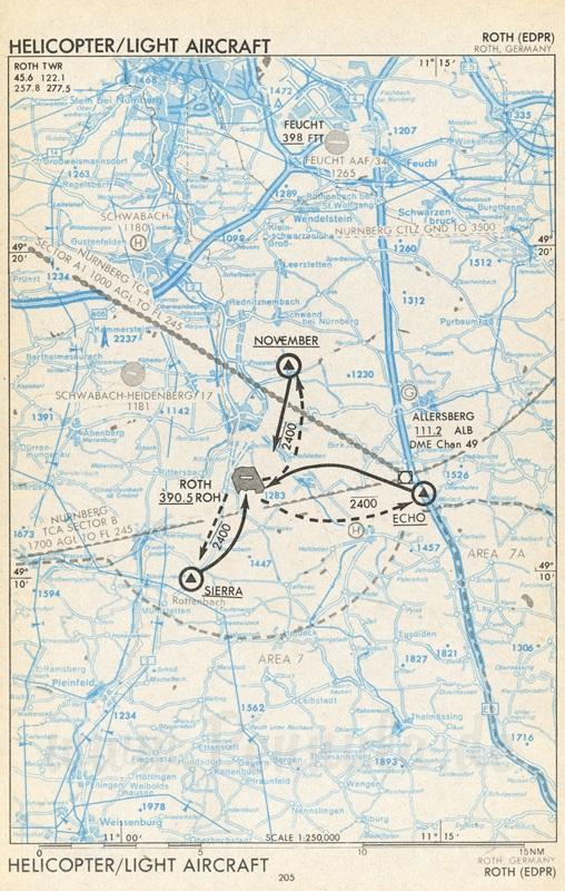 Flugplatz Roth (EDPR) | Luftfahrtkarte mit Sichtanflugkarte ...