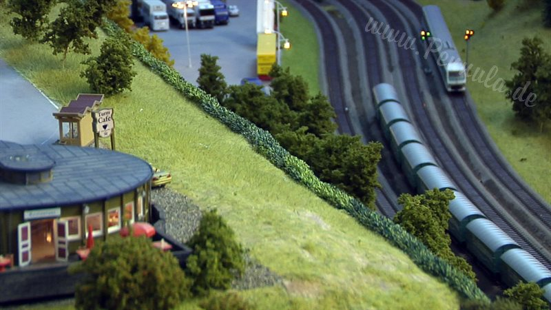 Modellbahn Spur H0 Anlage La Statione
