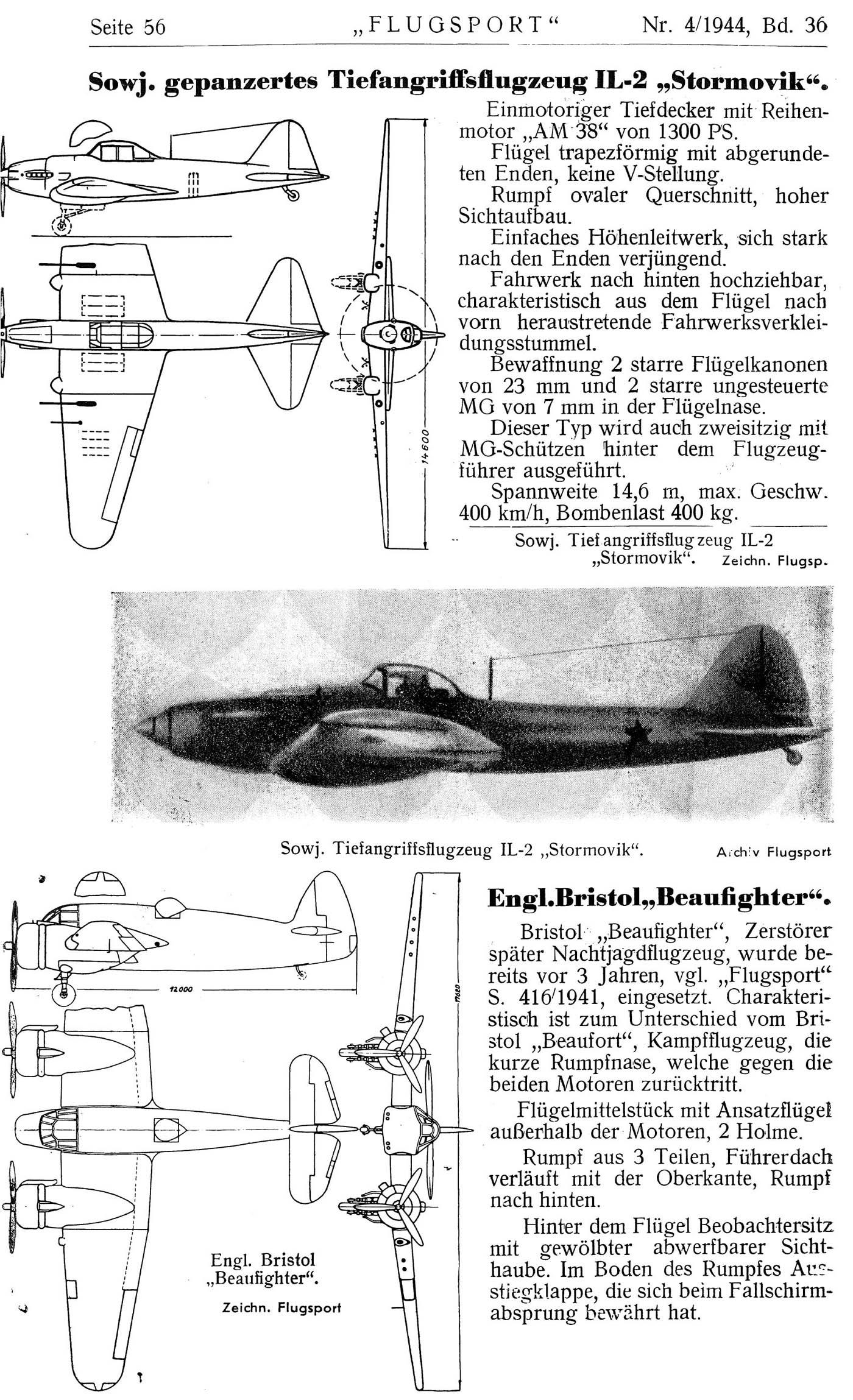 Leseprobe Zeitschrift Flugsport vom 19. April 1944